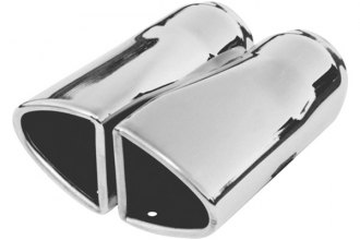 Flowmaster® - Stainless Steel Polished Double Wall Tip with Embossed Logo