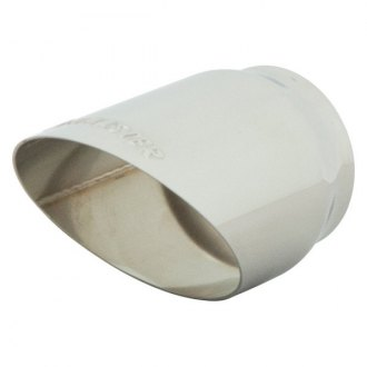 Flowmaster® - Stainless Steel Round Polished Angle Cut Rolled Edge Tip with Embossed Logo