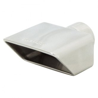 Flowmaster® - Stainless Steel Rectangular Rolled Edge Angle Cut Single-Wall Polished Exhaust Tip with Embossed Logo