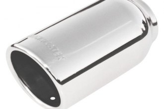 Flowmaster® - Stainless Steel Polished Angle Rolled Edge Tip with Embossed Logo