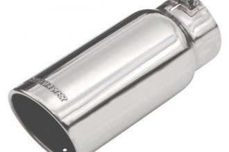 Flowmaster® - Stainless Steel Rolled Angle Tip with Embossed Logo