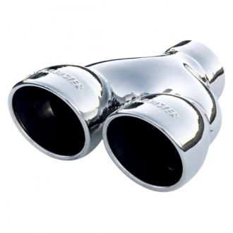 Flowmaster® - Stainless Steel Round Angle Cut Dual Polished Exhaust Tip with Embossed Logo