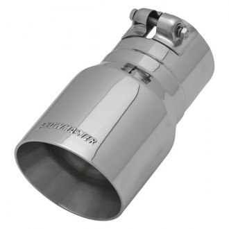 "Flowmaster® - Stainless Steel Round Angle Cut Tip with Embossed Logo (3"" Inlet / 4"" Outlet, 7"" Length)"