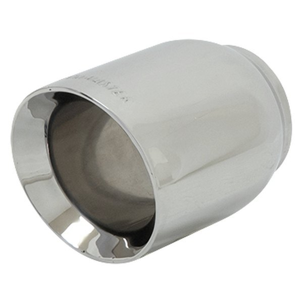 Flowmaster® - Driver or Passenger Side Stainless Steel Round Rolled Edge  Angle Cut Double-