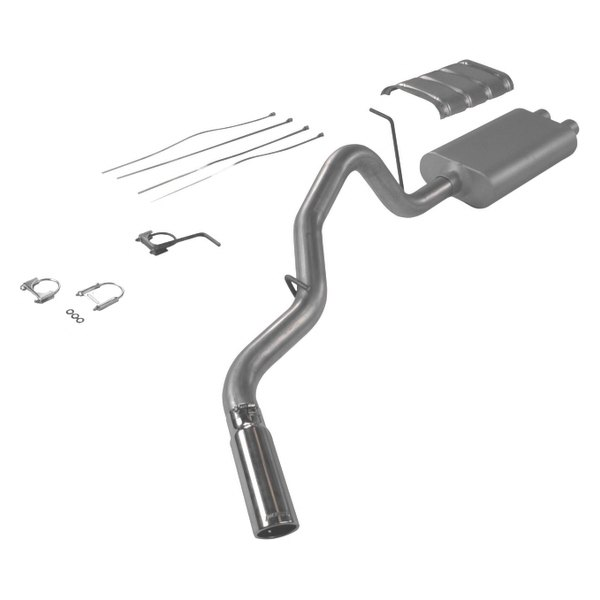 Flowmaster® - American Thunder™ Aluminized Steel Single Cat-Back Exhaust System