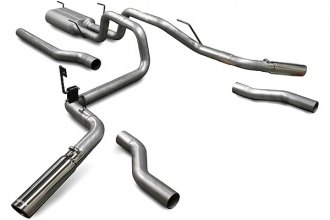 Flowmaster® 17438 - American Thunder™ Aluminized Steel Dual Cat-Back Exhaust System (Dual Rear Exit)