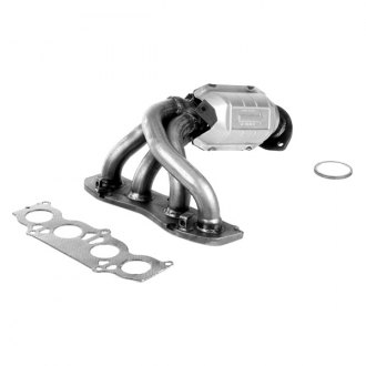 Flowmaster® - Direct Fit Standard Grade Front Stainless Steel Federal Exhaust Manifold with Integrated Catalytic Converter with Ceramic Substrate