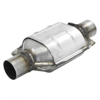 Flowmaster® - 282 Series Stainless Steel OBDII Oval Catalytic Converter (2 Inlet / 2 Outlet)