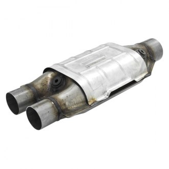 Flowmaster® - 282 Series Stainless Steel OBDII Oval Catalytic Converter (2 Inlet / 2.5 Outlet)