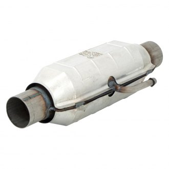 "Flowmaster® - 3932 Series Pre-OBDII Stainless Steel Round Catalytic Converter (2.25"" Inlet / 2.25"" Outlet, 16.5"" Length)"
