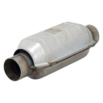 "Flowmaster® - 3998 Series Pre-OBDII Stainless Steel Round Catalytic Converter (2.25"" Inlet / 2.25"" Outlet, 13"" Length)"