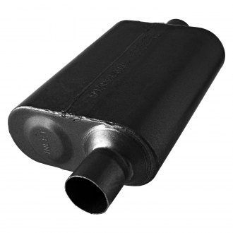 "Flowmaster® - 40 Series 409 SS Oval Gray Exhaust Muffler (2.25"" Offset ID, 2.25"" Center OD, 13"" Length)"