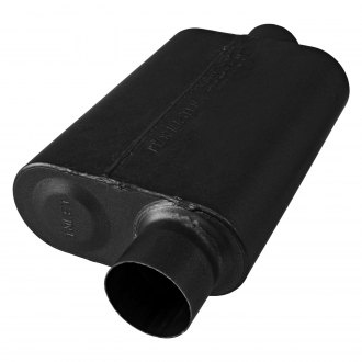 "Flowmaster® - 40 Series Stainless Steel Oval Gray Exhaust Muffler (3"" Offset ID, 3"" Center OD, 13"" Length)"