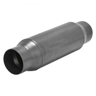 "Flowmaster® - Outlaw™ 409 SS Round Exhaust Muffler (3.5"" Center ID, 3.5"" Center OD, 10"" Length)"