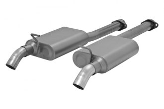 Flowmaster® - American Thunder™ Stainless Steel Cat-Back Exhaust System - Dual Out Dumps