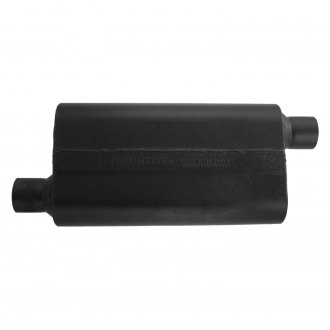 "Flowmaster® - 50 Series Delta Flow™ 409 SS Oval Gray Exhaust Muffler (2.5"" Offset ID, 2.5"" Offset OD, 17"" Length)"