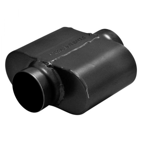 """... Single Chamber Gray Exhaust Muffler (3"""" Center ID / 3"""" Center OD, 6.5"""