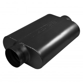 "Flowmaster® - 40 Series Delta Force™ 409 SS Oval 2-Chamber Race Exhaust Muffler (3.5"" Center ID, 3.5"" Center OD, 13"" Length)"