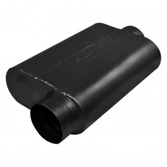 "Flowmaster® - 40 Series Delta Force™ 409 SS Oval 2-Chamber Race Exhaust Muffler (3.5"" Offset ID, 3.5"" Center OD, 13"" Length)"