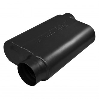 "Flowmaster® - 40 Series Delta Force™ 409 SS Oval 2-Chamber Race Exhaust Muffler (3.5"" Offset ID, 3.5"" Offset OD, 13"" Length)"