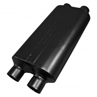 "Flowmaster® - 50 Series HD Delta Flow™ 409 SS Oval Gray Exhaust Muffler (2.5"" Dual ID, 2.5"" Dual OD, 18"" Length)"