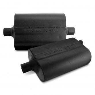 Flowmaster® - 60 Series Delta Flow™ Aluminized Steel Oval Black Exhaust Muffler