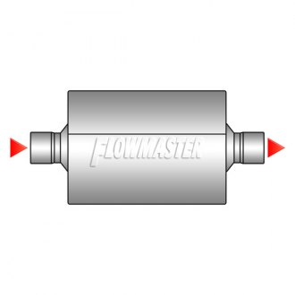 Image may not reflect your exact vehicle! Flowmaster® - Center Inlet / Center Outlet Muffler