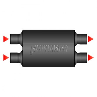 Image may not reflect your exact vehicle! FLOWMASTER® - Dual Inlet / Dual Outlet Muffler