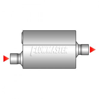 Image may not reflect your exact vehicle! Flowmaster® - Offset Inlet / Center Outlet Muffler
