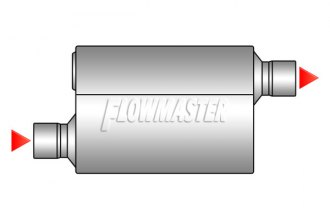 "Flowmaster® - Super 50 Series Delta Flow™ (SUV) Stainless Steel Performance Muffler (Moderate Sound, 2.5"" Offset Inlet / 2.5"" Offset Outlet)"