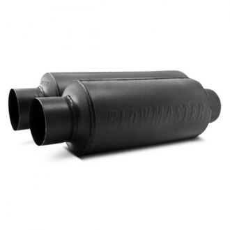 Flowmaster® - Pro Series™ Stainless Steel Round Race Black Exhaust Muffler with Turn Down