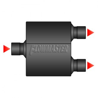 Image may not reflect your exact vehicle! FLOWMASTER® - Center Inlet / Dual Outlet Muffler