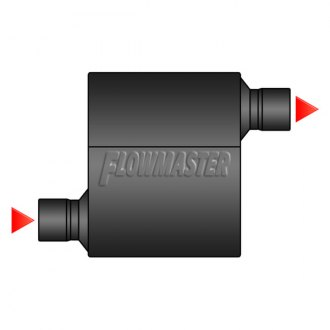 Image may not reflect your exact vehicle! Flowmaster® - Offset Inlet / Offset Outlet Muffler