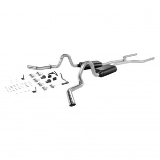 Flowmaster® - American Thunder™ Aluminized Steel Dual Header-Back Exhaust System with Split Side Exit