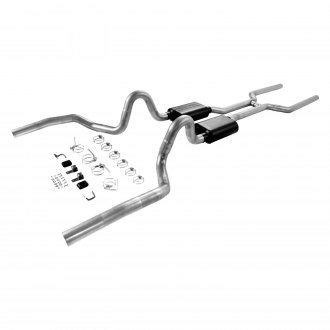 Flowmaster® - American Thunder™ Dual Header-Back Exhaust System with Split Rear Exit