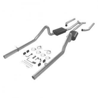 Flowmaster® - Delta Force™ Aluminized Steel Dual Header-Back Exhaust System with Split Rear Exit