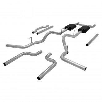Flowmaster® - American Thunder™ Aluminized Steel Dual Header-Back Exhaust System with Split Rear/Side Exit