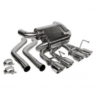 Flowtech® - 304 SS Axle-Back Exhaust System with Quad Rear Exit