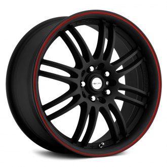 FOCAL® - 163B F-16 Matte Black with Red Stripe