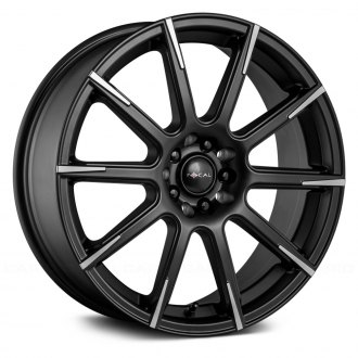FOCAL® - 452SB F-52 Satin Black with Diamond Cut Spoke Tips and Clear Coat