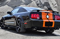 FOOSE® - ENFORCER Black with Chrome Inserts on Ford Mustang