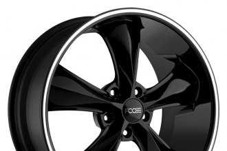 "FOOSE® - LEGEND Black with Machined Lip Stripe (18"" x 8"", +1 Offset, 5x120.65 Bolt Pattern, 72.6mm Hub)"