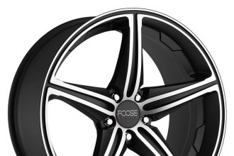 "FOOSE® - SPEED Black Machined (19"" x 8.5"", +42 Offset, 5x120.65 Bolt Pattern, 72.6mm Hub)"