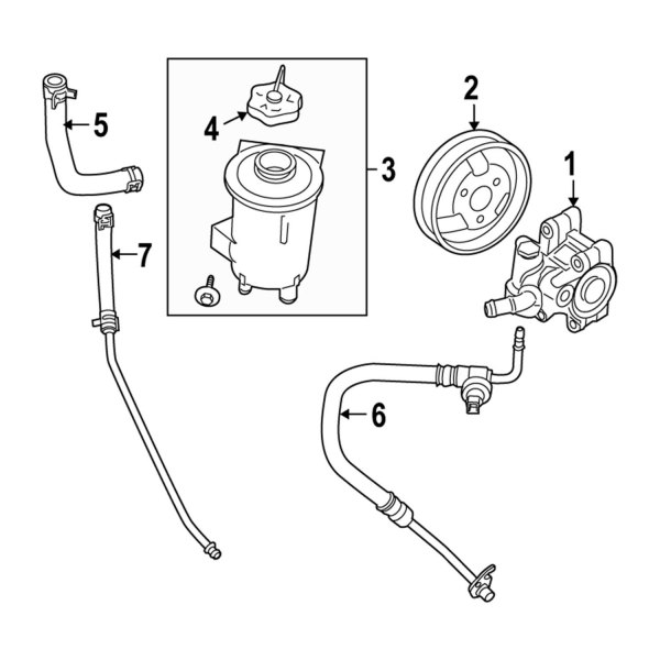 Genuine Ford Power Steering Pump 9L5Z-3A674-BRM