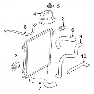 2006 ford 4.0l engine diagram 2006 ford explorer radiator hoses   clamps     carid com  2006 ford explorer radiator hoses