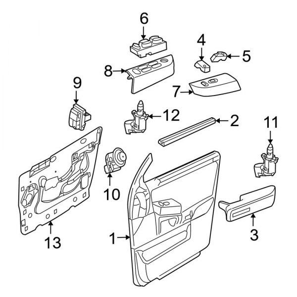 Genuine Ford Mirror Switch CA6Z-17B676-A