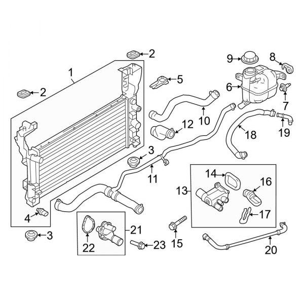 Ford DT4Z-8260-A Radiator Coolant Hose