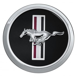 Ford Performance® - Black Wheel Center Cap With Running Pony Over Tr-Bar Emblem