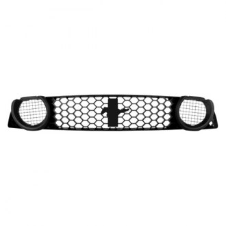 Ford Performance® - 1-Pc Boss 302S Style Black Honeycomb Mesh Main Grille