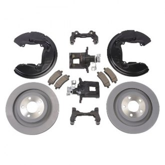 Ford Performance® - 1-Piece Plain Brake Kit with Cast Iron Calipers